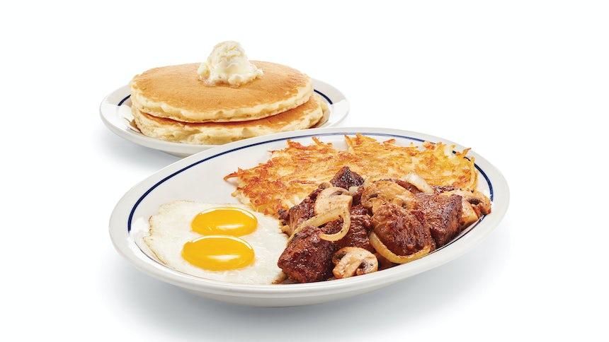 Sirloin Steak Tips & Eggs Image