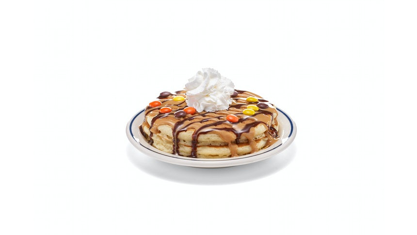 NEW! REESE'S PIECES Pancakes - (Short Stack) Image