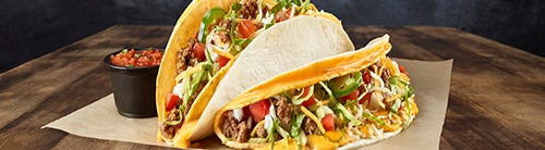 Double Stack Cheesy Tacos