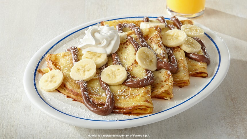 Banana Crepes with Nutella® Image