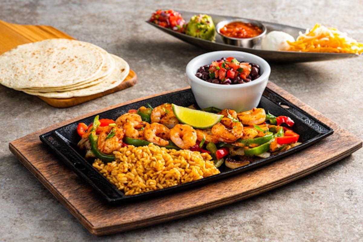 Lunch Shrimp Fajitas