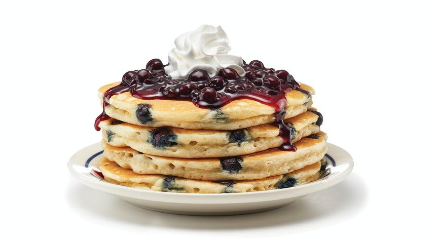 Double Blueberry Pancakes Image