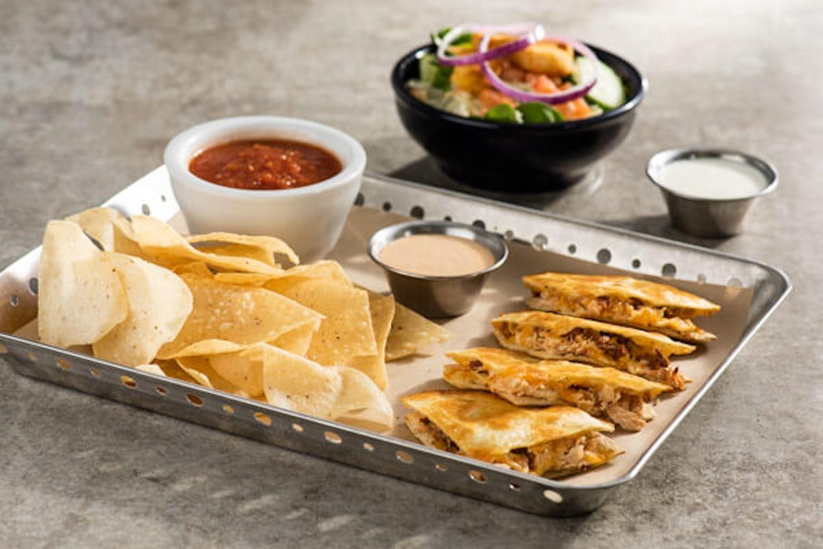 Lunch Combo - Bacon Ranch Chicken Quesadillas