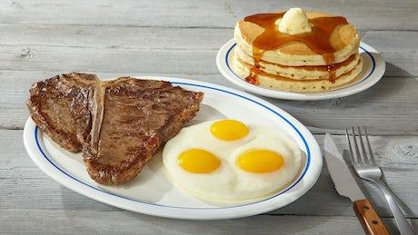 T-Bone Steak & Eggs Image