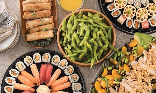 "CATERING - ""RA""CKIN' SUSHI PARTY PLATTERS"