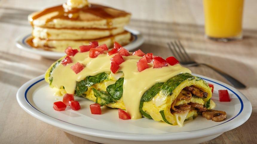 Spinach & Mushroom Omelette Image