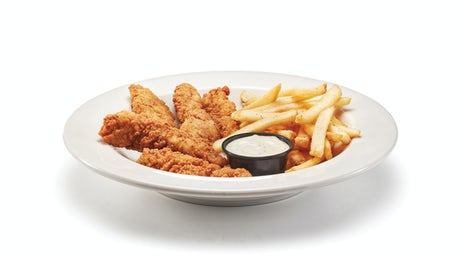 Signature Buttermilk Crispy Chicken Strips & Fries Image