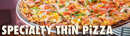 SPECIALTY THIN CRUST PIZZA