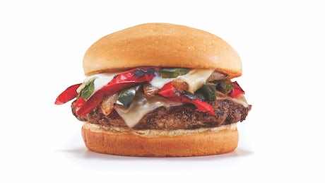 Gluten-Friendly Loaded Philly Steakburger Image