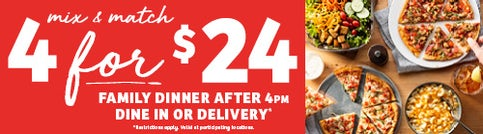 4 for $24 after 4 PM