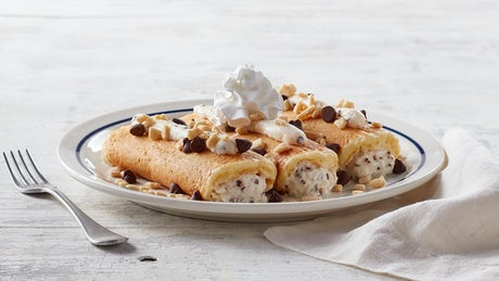 Italian Cannoli Pancakes  and adds 660 Calories