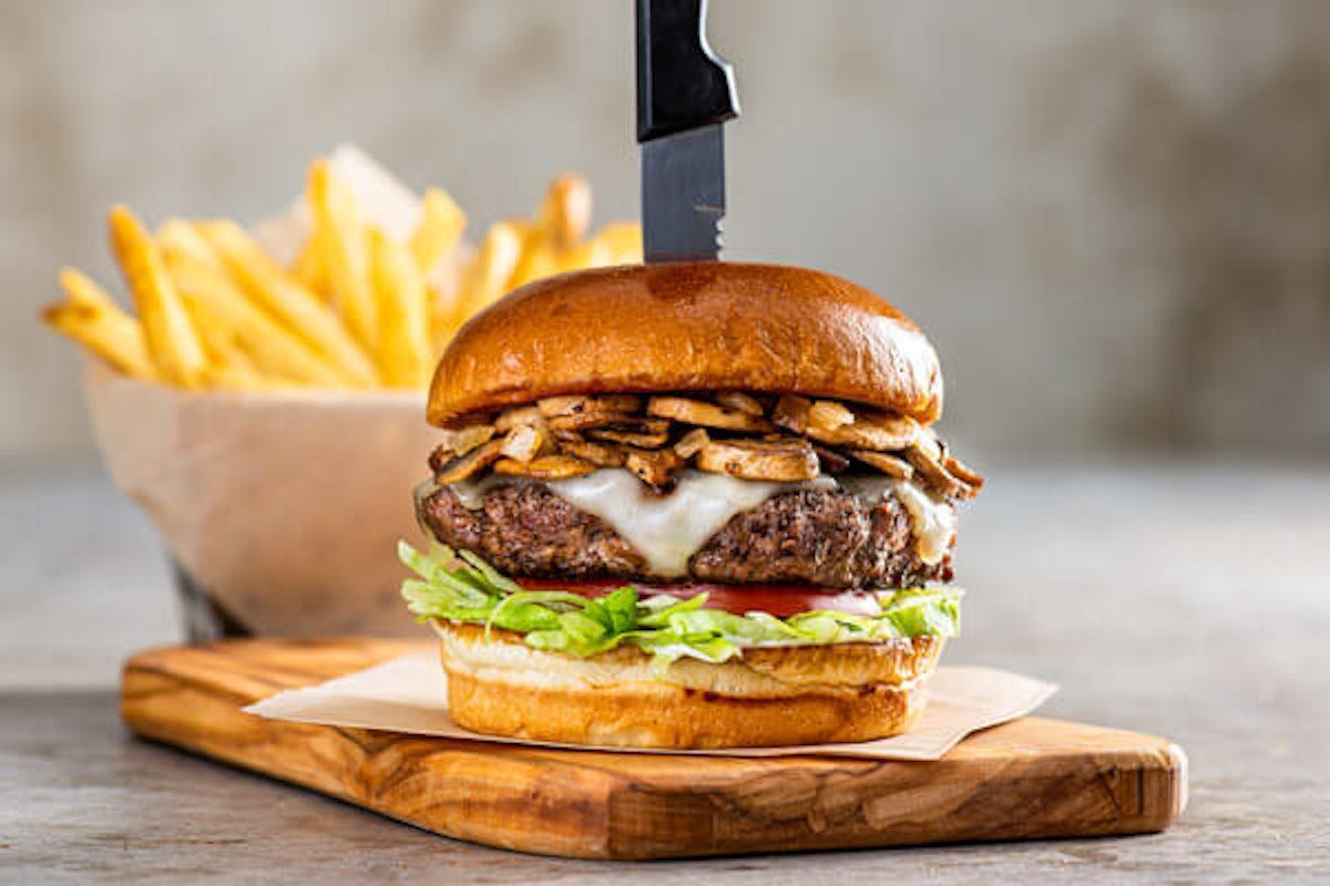 Mushroom Swiss Burger*