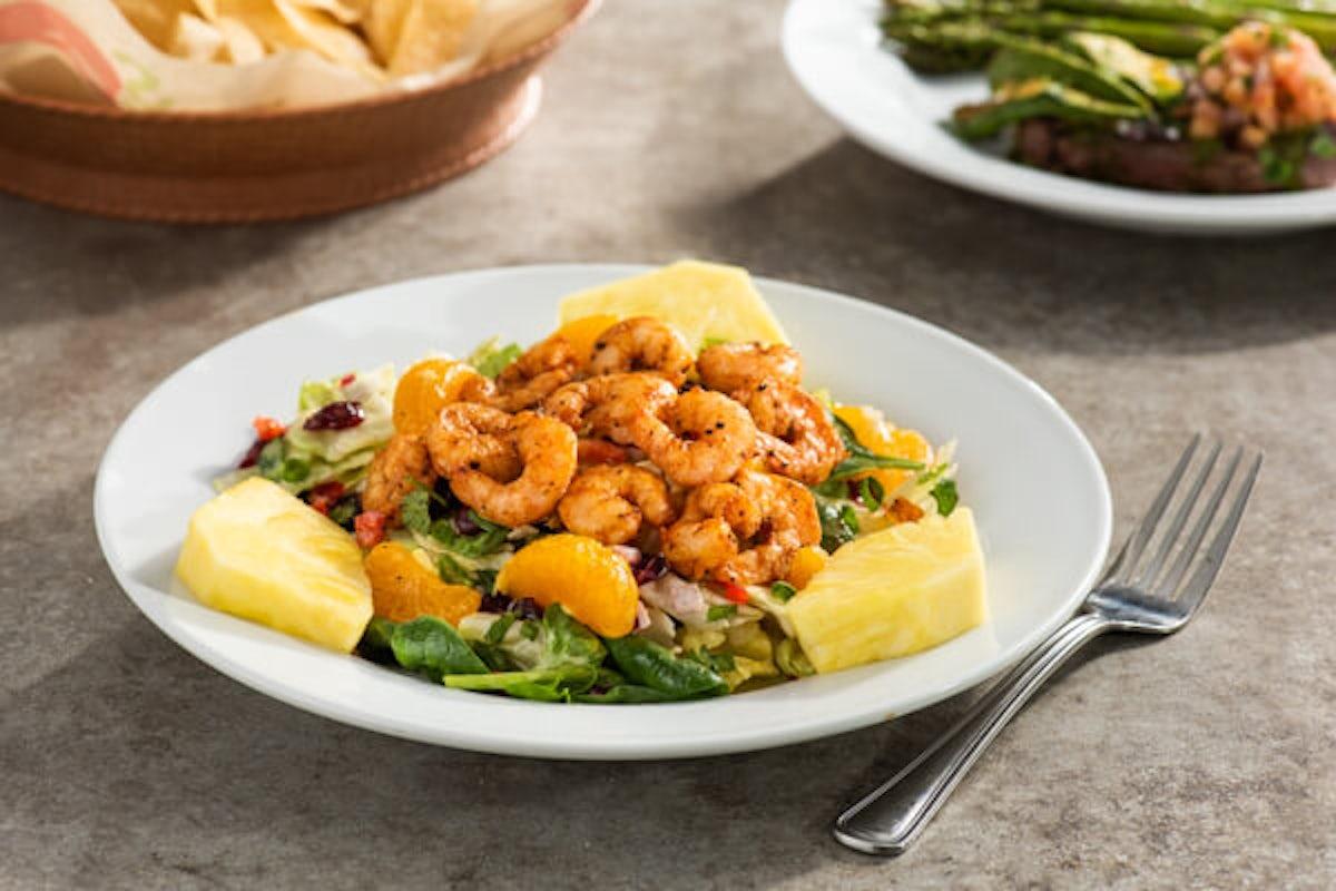 Caribbean Salad with Seared Shrimp
