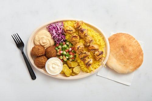 Chicken Breast Kebab Plate