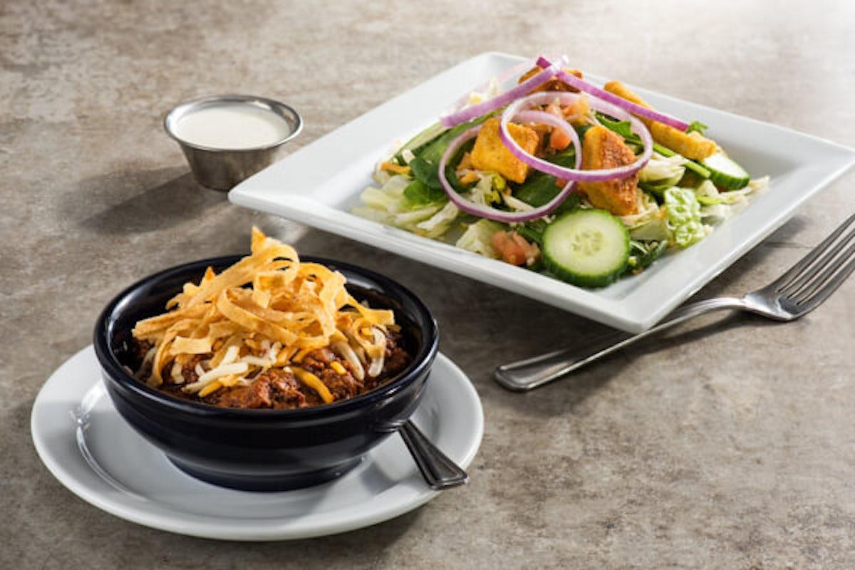 Chili & House Salad
